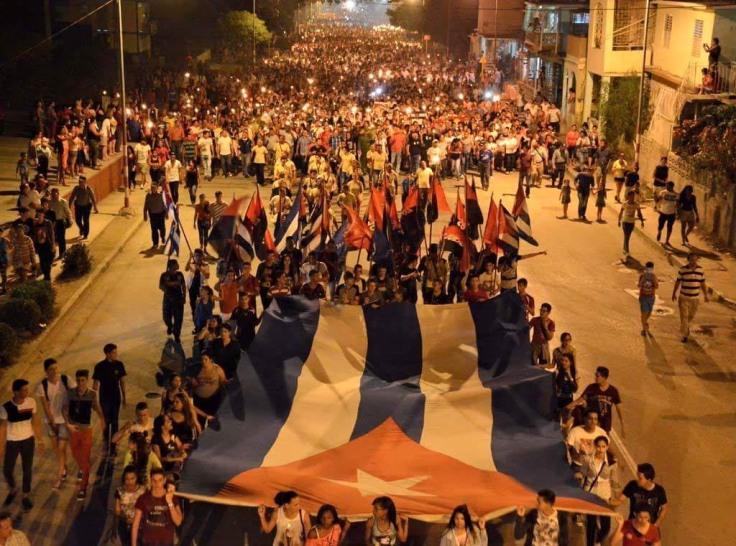 CUBA-MARCHA DE LAS ANTORCHAS EN HOLGUÍN